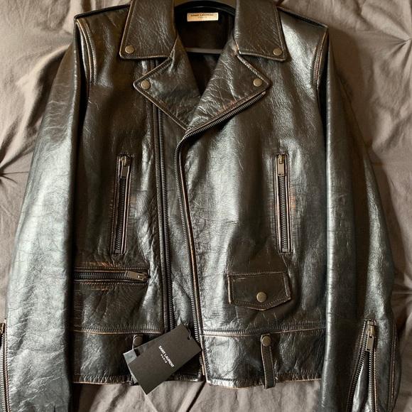 Saint Laurent JacketNWT Mens Biker Leather 1974 7gy6vYfb